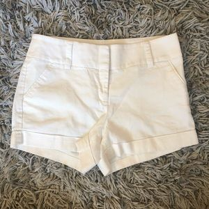 Express dress shorts linen white pockets